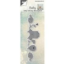 Stanz- und Prägeschablonen: Baby Wäscheleine