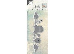 Joy!Crafts und JM Creation Stansning og prægning skabeloner: Baby tørresnor