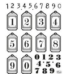 Stempel / Stamp: Transparent Gennemsigtige stempel: hangtags med tal