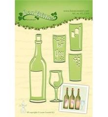 Joy!Crafts und JM Creation Stanz- und Prägeschablonen: zum Fest, Flasche und Gläser
