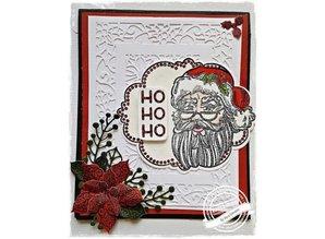 Creative Expressions Sello de goma: Tema de Navidad