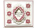 Creative Expressions Punching and embossing templates: Christmas decorative frame