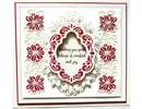 Creative Expressions Punzonado y estampado en relieve plantillas: Navidad marco decorativo