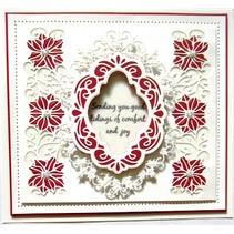 Stansning og prægning skabeloner: Julen dekorative ramme