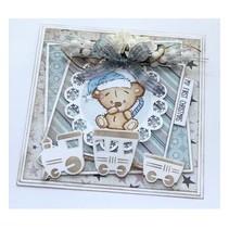 stamp transparente: Bebé y osos de peluche