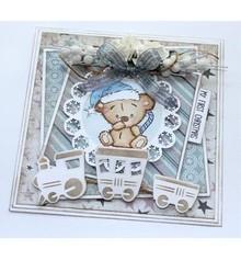 Stempel / Stamp: Transparent stamp transparente: Bebé y osos de peluche