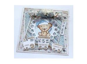 Stempel / Stamp: Transparent Gennemsigtig stempel: Baby og Bamser