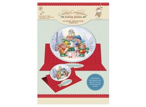 """BASTELSETS / CRAFT KITS: A5 Easel Decoupage Card Kit, """"Winter Wishes"""""""