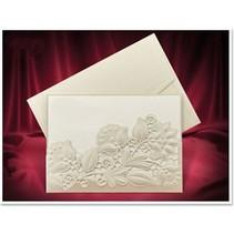 Exclusieve Einsteckkarten bloemen crèmekleurige