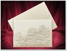 KARTEN und Zubehör / Cards Eksklusiv Einsteckkarten blomster cremefarvet