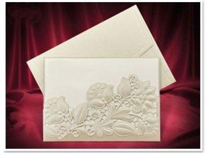 KARTEN und Zubehör / Cards Exclusive Einsteckkarten Blumen creme farbig