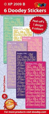 Sticker Ziersticker, Baby text
