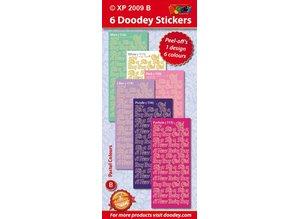 Sticker Ziersticker, Baby tekst