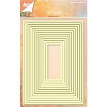 Punzonado y estampado en relieve plantillas: juego de mapas base para el rectángulo