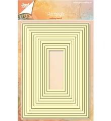 Joy!Crafts und JM Creation Punzonado y estampado en relieve plantillas: juego de mapas base para el rectángulo