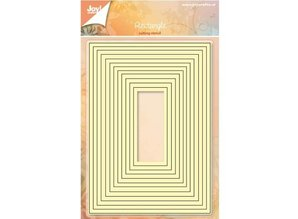 Joy!Crafts und JM Creation Punching and embossing templates: rectangle set for basemaps