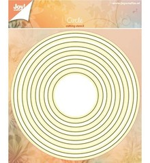 Joy!Crafts und JM Creation Punching and embossing templates: Set round