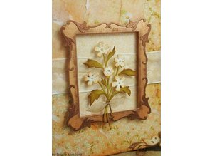 Wild Rose Studio`s Wildrose Studio`s stempling og prægning stencil, Antique Art Frames