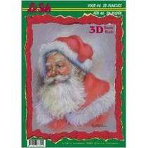 Papel A4: Tema de Navidad 3D