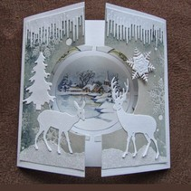 Punching and embossing templates Craftables, 2 reindeer