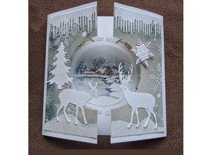 Marianne Design plantillas de punzonado y estampado en relieve Craftables, 2 reno