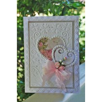 Punching and embossing template: A6 frame with heart