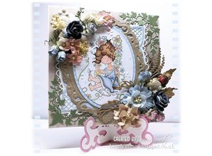 Marianne Design Embossing and punching template, elegant, oval decorative frame