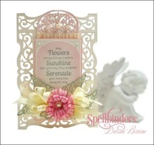 Spellbinders und Rayher Cutting and embossing stencils, filigree decorative frame