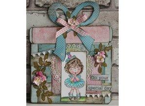 Dutch DooBaDoo Plantilla A4: arte de la carta de tarjetas de regalo