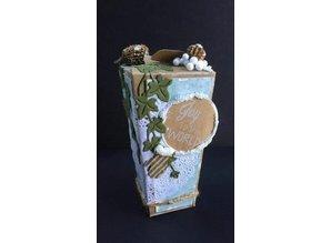 Plantilla A4: Caja Tipo de tarjeta, linterna