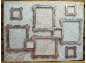Wild Rose Studio`s Wildrose Studio`s stamping and embossing stencil, Antique Art Frames