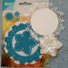Joy!Crafts und JM Creation Punching and embossing templates: Circle with flower
