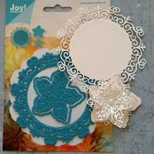 Joy!Crafts und JM Creation Punzonatura e goffratura modelli: cerchio con fiore