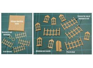 Stansning og prægning skabelon: Victorian Village