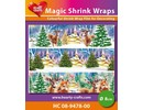 BASTELZUBEHÖR / CRAFT ACCESSORIES Magic shrink films, Winter (⌀ 8 cm)