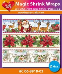BASTELZUBEHÖR / CRAFT ACCESSORIES Magic shrink films, Christmas (⌀ 6 cm)
