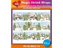 BASTELZUBEHÖR / CRAFT ACCESSORIES Magic shrink films Winter Village (⌀ 6 cm)