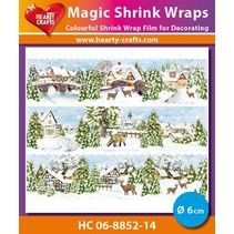 Magic shrink film Winter Village (⌀ 6 cm)