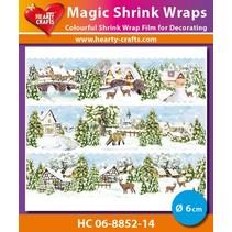 Magische Schrumpffolien, Winter Village (⌀ 6 cm)