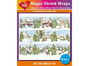 BASTELZUBEHÖR / CRAFT ACCESSORIES Magic shrink film Winter Village (⌀ 6 cm)