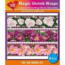 Magic shrink films, Roses Luxe (⌀ 6 cm)