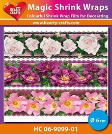 BASTELZUBEHÖR / CRAFT ACCESSORIES Magic skrumpe film, Roses Luxe (⌀ 6 cm)
