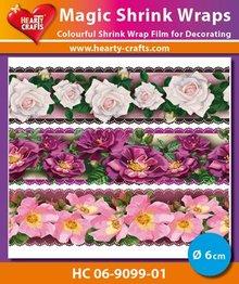 BASTELZUBEHÖR / CRAFT ACCESSORIES Magic skrumpe film, Roses Luxe (⌀ 6 cm)