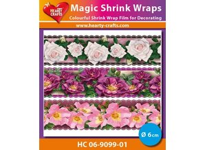 BASTELZUBEHÖR / CRAFT ACCESSORIES Magic shrink films, Roses Luxe (⌀ 6 cm)