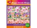 BASTELZUBEHÖR / CRAFT ACCESSORIES Magic shrink films, Orchids (⌀ 8 cm)