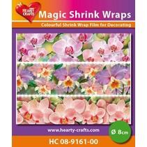 Magic shrink films, Orchids (⌀ 8 cm)