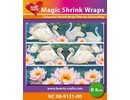 BASTELZUBEHÖR / CRAFT ACCESSORIES Magic shrink films, swans (⌀ 8 cm)