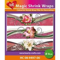 Magic shrink films, flowers (⌀ 8 cm)