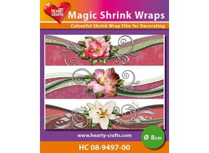 BASTELZUBEHÖR / CRAFT ACCESSORIES Magic shrink films, flowers (⌀ 8 cm)