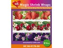 BASTELZUBEHÖR / CRAFT ACCESSORIES Magic shrink films, fruits (⌀ 8 cm)